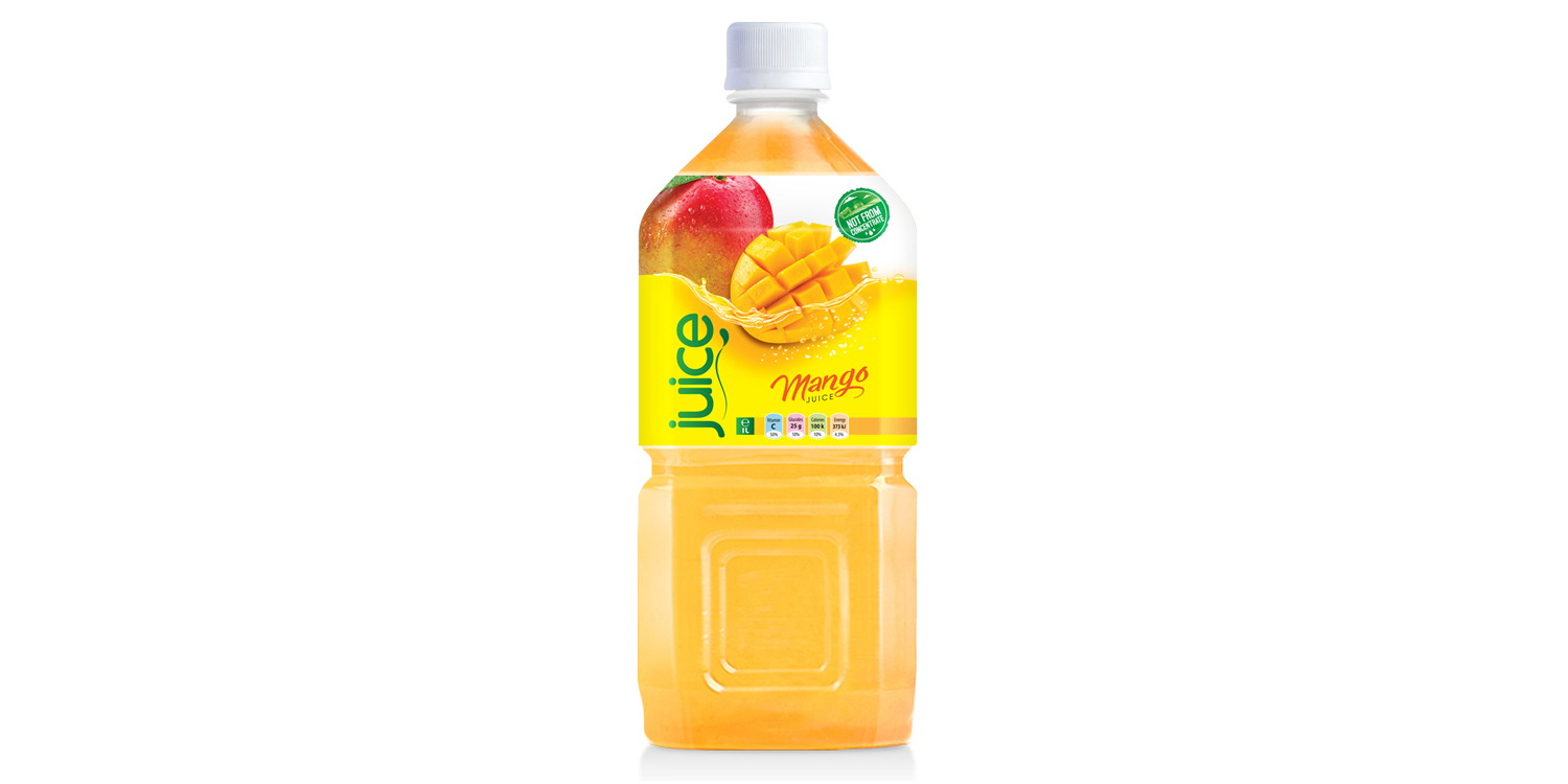 Pure mango juice drink 1000ml pet bottle