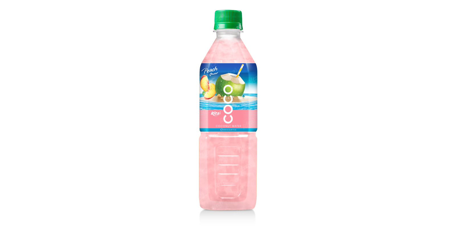 Coconut water with peach flavor  500ml Pet bottle from RITA US