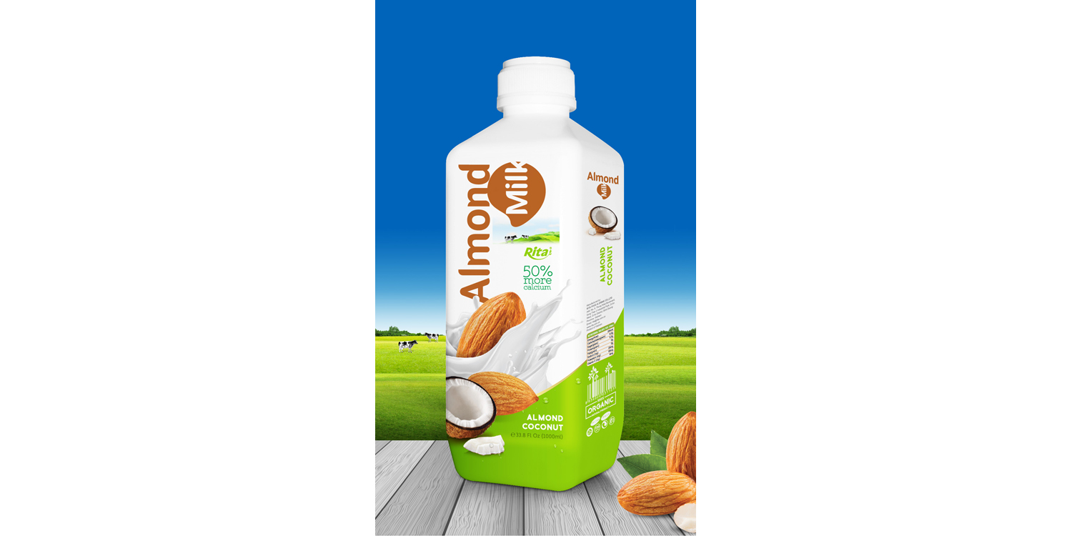 Almond milk with coconut 1000 ml PP bottle from RITA US