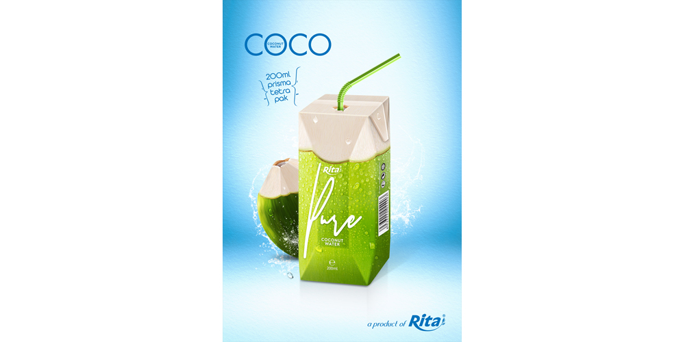 drinking coconut water in aseptic 200ml