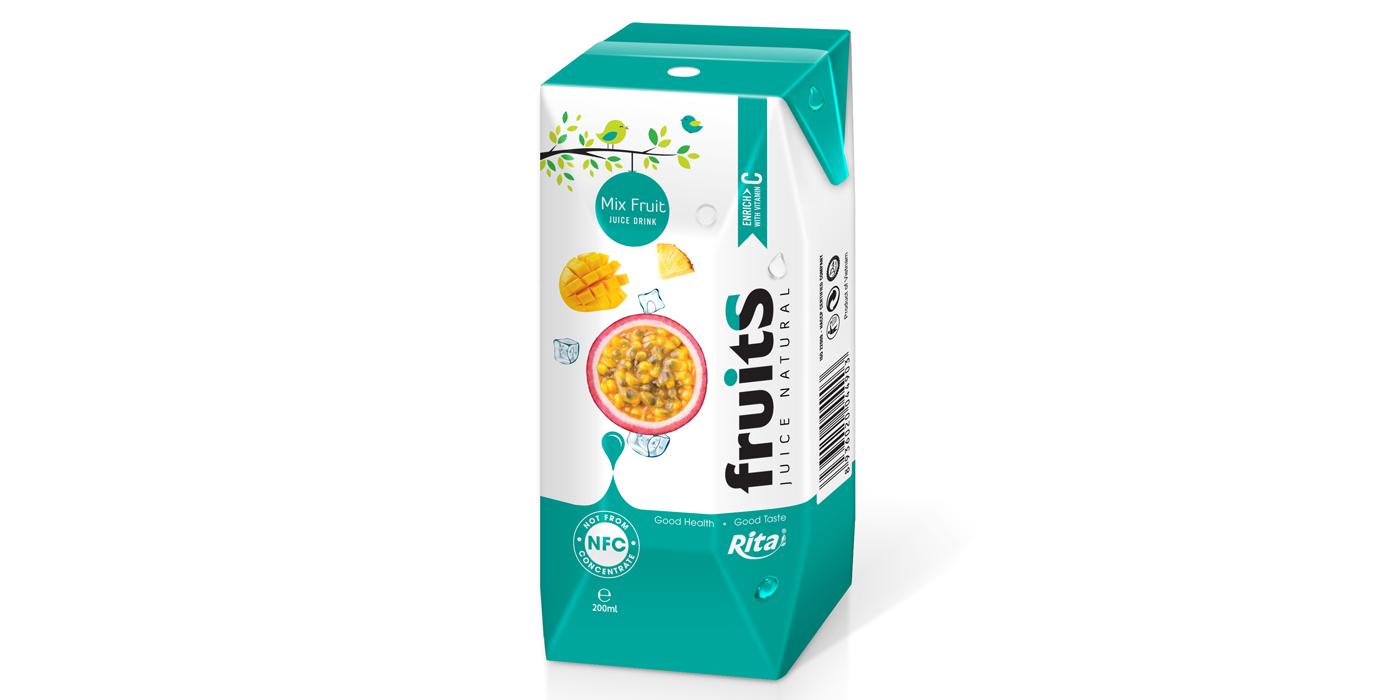 Mix fruit juice Aseptic 200ml