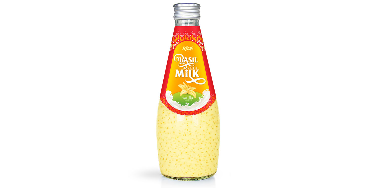 fruit juice brands vanilla with Basil seed Milk 290ml