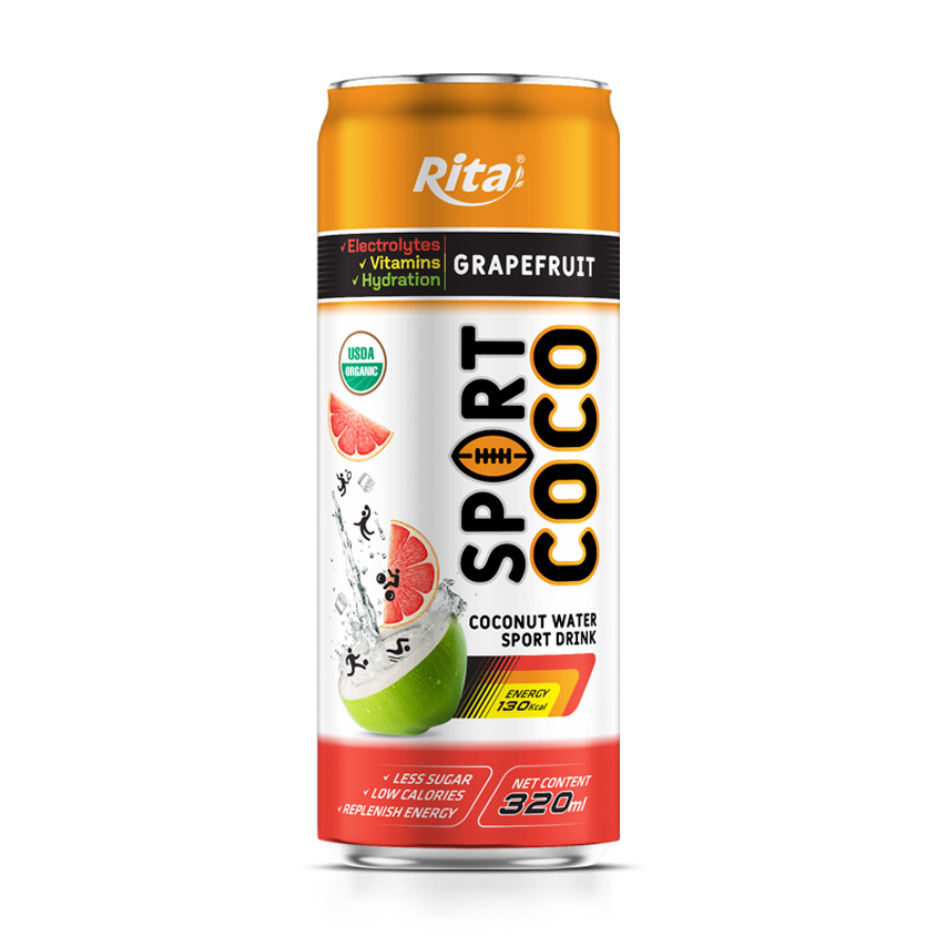Sport young coconut water grapefruit juice flavor