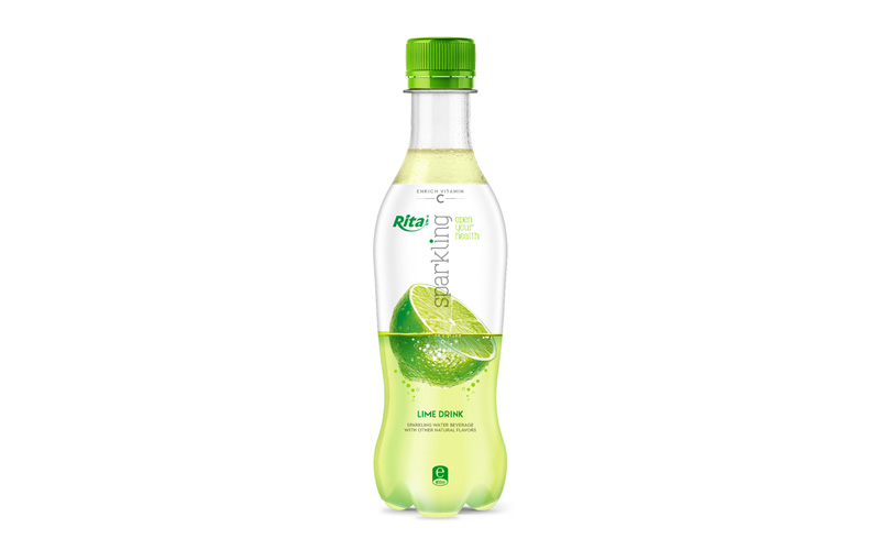 Sparkling fruit lime juice drink 400ml Pet bottle