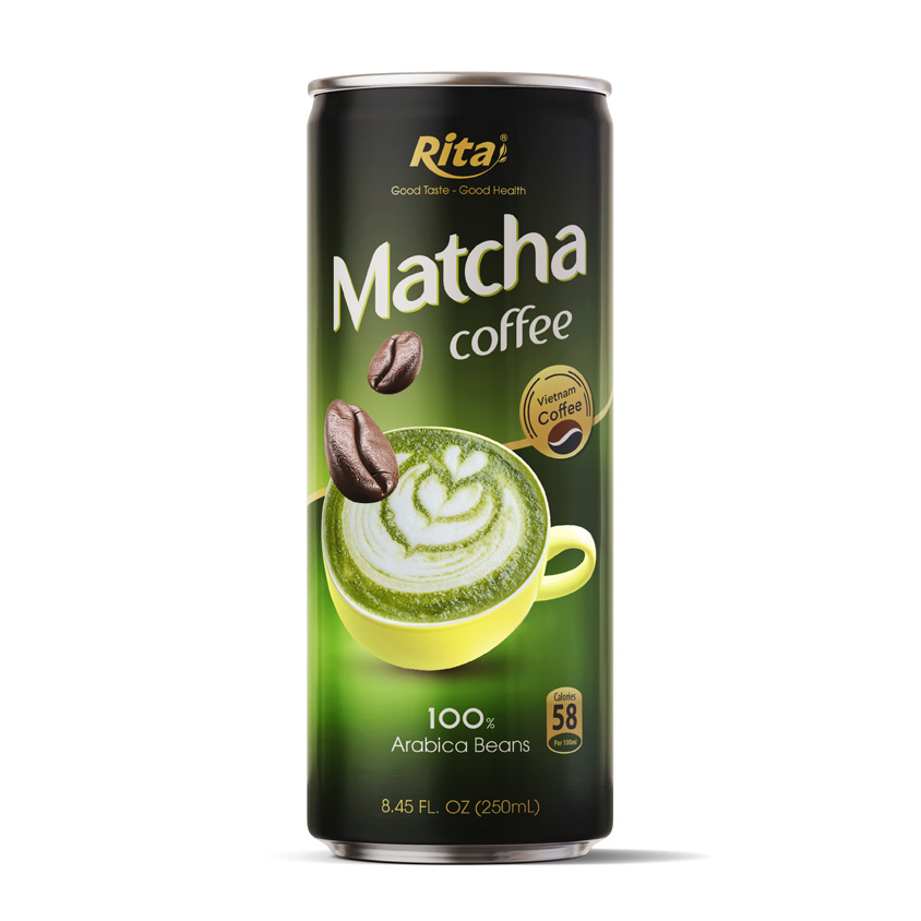 Matcha Coffee 100 percent arabica beans  250ml canned