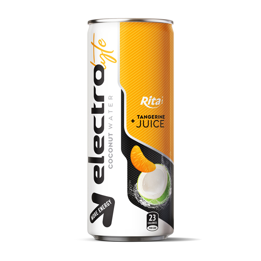 High quality 250ml more energy  Electrolyte Coconut water tangerine