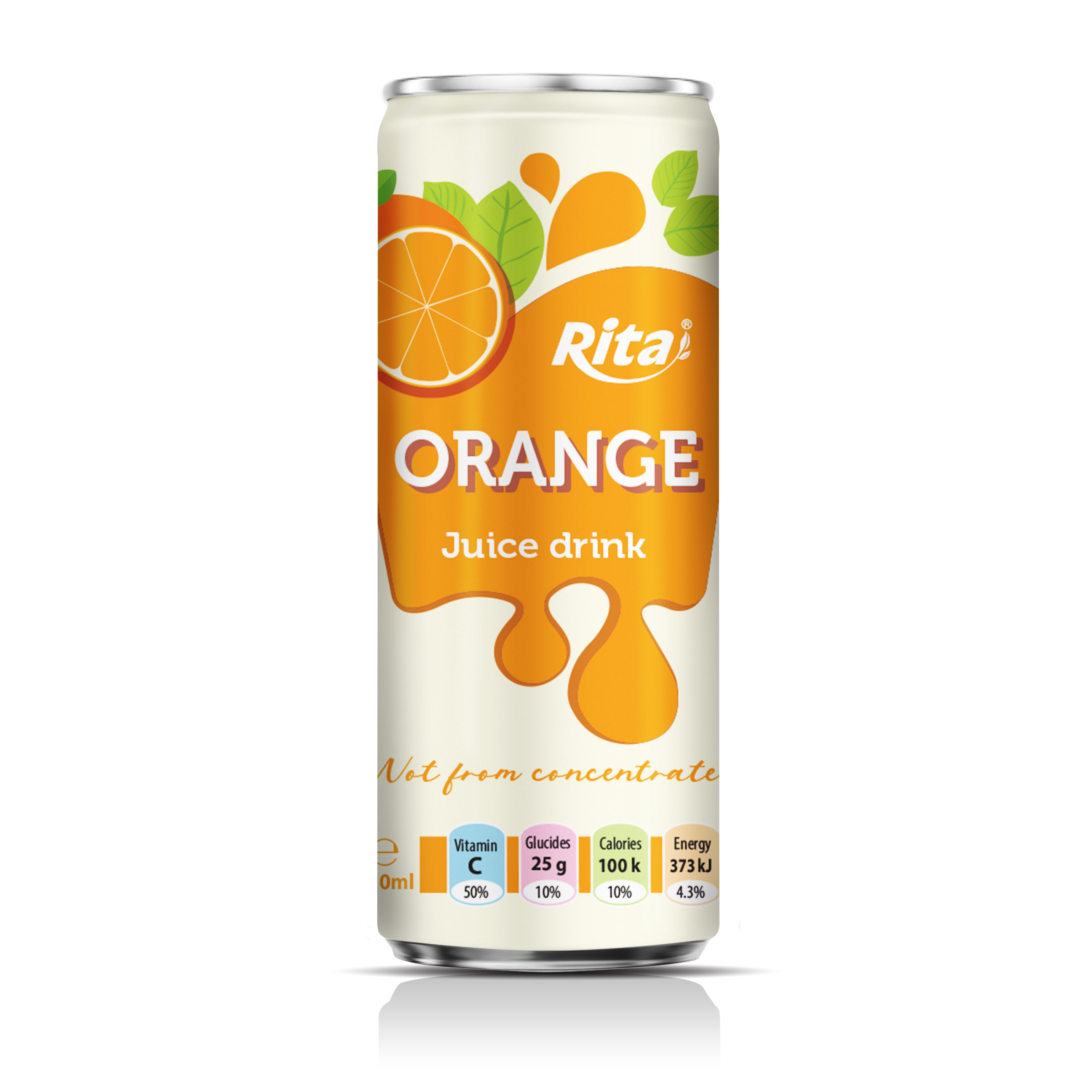 Pure juice orange fruit juice Not from concentrate