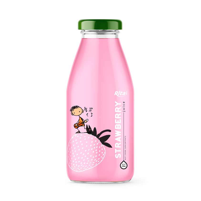 250ml glass bottle strawberry fruit juice