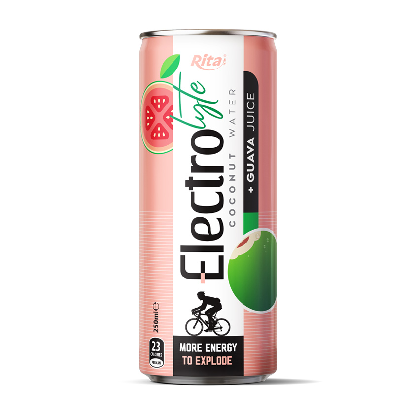 High quality Electrolyte Coconut water with guava juice