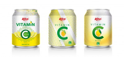 vitamin C drink 250ml can of RITA US
