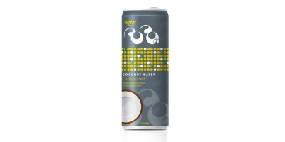 Carbonated coconut water 250ml slim can from RITA US