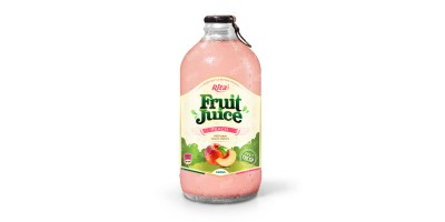 Peach fruit juice 340ml glass bottle  from RITA US