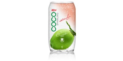 350ml Pet bottle   Sparking coconut water  with watermelon juice from RITA beverage
