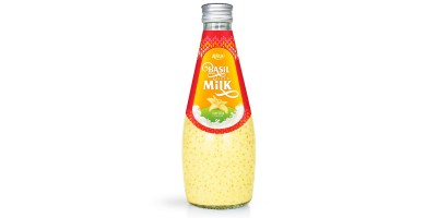 fruit juice brands vanilla with Basil seed Milk 290ml from RITA US