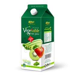Mix tropical fruit juice with vegetable 1.75L Paper box