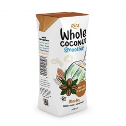 200ml aseptic Mocha whole Coconu Smoothie with coconut meat