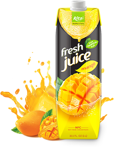 fresh juice mango in paper box 1L