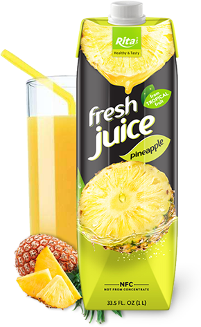 fresh juice pineapple in paper box 1L