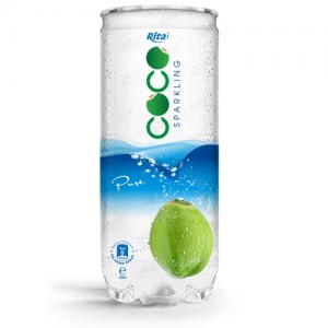 Pure sparking coconut water 250ml Pet Can