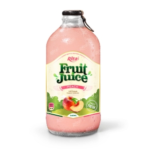 Peach fruit juice 340ml glass bottle