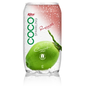 Sparking coconut water  with pomegranate