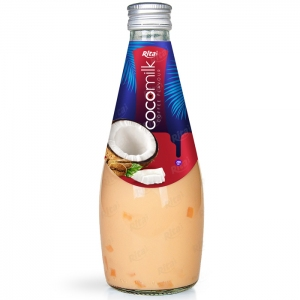 Coconut milk with coffee flavor 290ml glass bottle