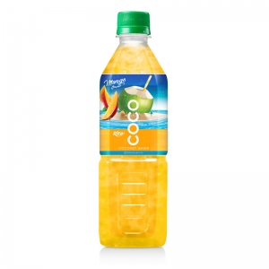 Coconut water with mango flavor  500ml Pet bottle