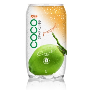 Sparking coconut water  with pineapple juice