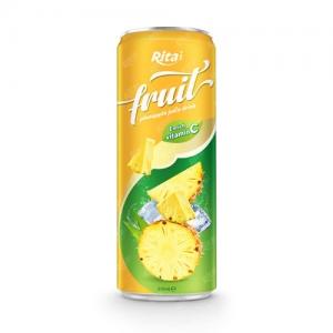 pineapple fruit juice enrich vitamin C in 320ml tin can