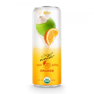 Coco Organic Sparkling with orange in 320ml can
