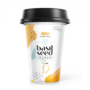 Basil seed drink with flavor mango